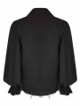 Black Steampunk Long Sleeve Shirt for Men
