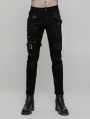 Black Gothic Punk Personality Vintage Trousers for Men