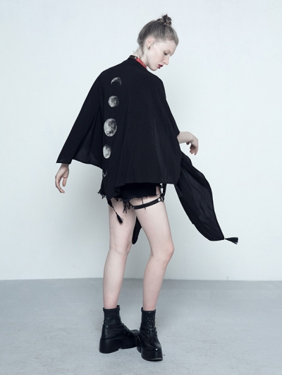 Black Gothic Summer Cape for Women