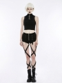 Black Gothic Punk Sexy Hot Pants for Women