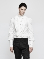White Ruffles Gothic Blouse for Men