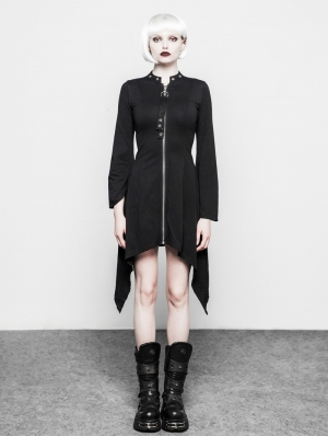 Black Gothic Dark Stand Collar Dress