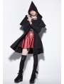 Black Gothic Elf Worsted Jacket for Women