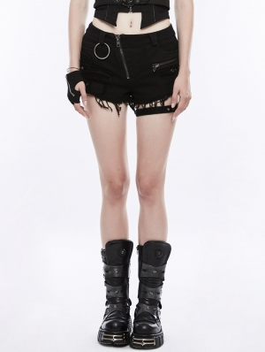 Gothic Punk Short Pants for Women