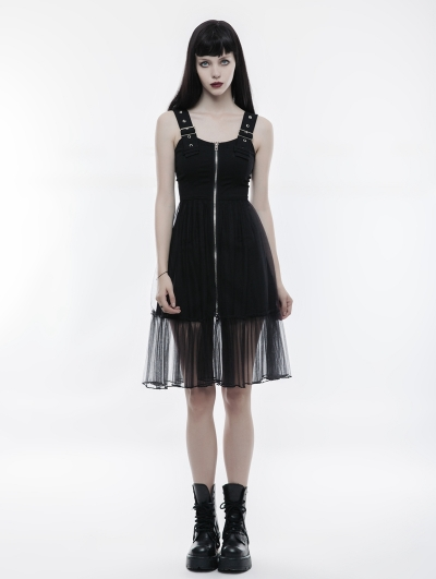 Black Gothic Handsome Mosaic Dress