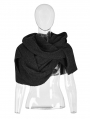 Black Gothic Heavy Wool Scarf Hat