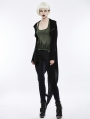 Black Gothic Darkness Knitted Cardigan for Women