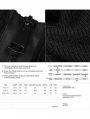 Black Daily Gothic Zipper High Neck Sweater for Women