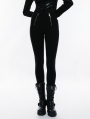 Black Gothic Punk Skinny Slimming Leggings for Women