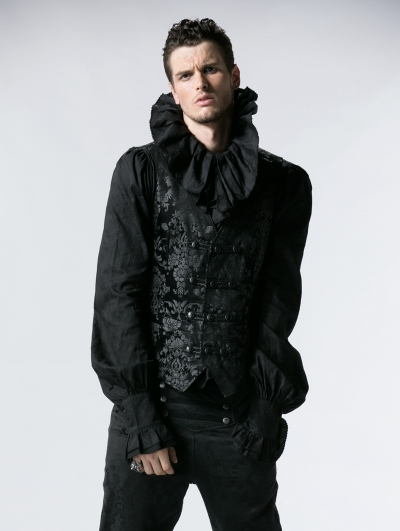 Gothic Vintage Palace Printed Vest for Men