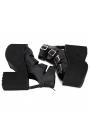 Black Gothic Punk Buckle Belt Platform Sandals