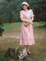 Pink Sweet Vintage Medieval Inspired Dress
