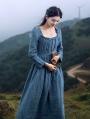 Blue Vintage Medieval Inspired Underwear Dress