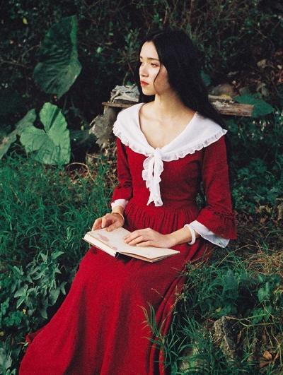Red Vintage Medieval Inspired Dress
