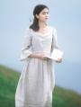 Ivory Vintage Medieval Inspired Dress