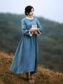 Blue Vintage Medieval Inspired Dress