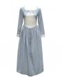 Vintage Stripe Long Sleeves Medieval Inspired Dress