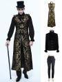 Gold Vintage Gothic Vest Suit for Men