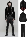 Black Vintage Gothic Swallow Tail Suit for Men