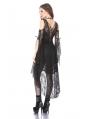 Black Gothic Elegant Lace High-Low Dress