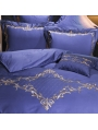 Purple Vintage Embroidery Comforter Set