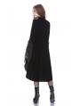 Black Vintage Gothic Noble Velvet Cocktail Coat for Women
