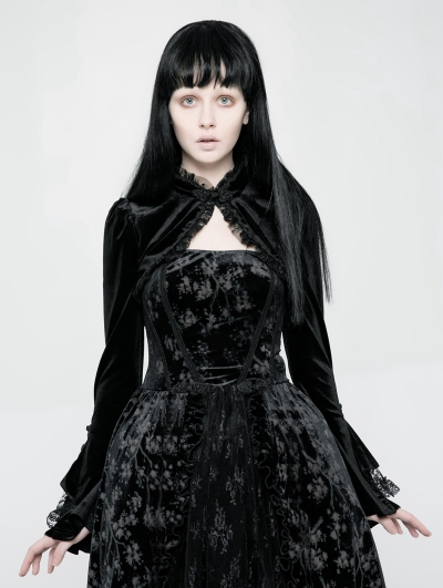 Black Gothic Lolita Short Jacket for Women