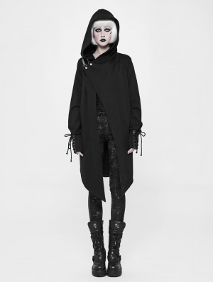 Black Gothic Punk Cardigan Sweater Coat for Women