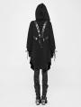 Black Gothic Punk Cardigan Sweater Coat for Women