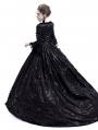 Black Flower Masquerade Gothic Victorian Dress