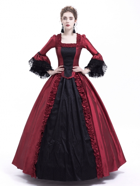 db2d68327a5 Black and Red Marie Antoinette Gothic Victorian Ball Gown ...