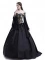 Black Theatrical Vintage Gothic Victorian Ball Dress