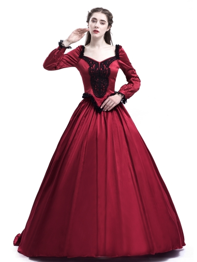 Red Belle Ball Princess Victorian Masquerade Dress