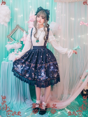 Strawberry Witch Alice's Dreamland Chiffon Sweet Lolita Jumper Skirt