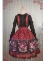 Strawberry Witch Alice's Dreamland Chiffon Sweet Lolita Jumper Skirt