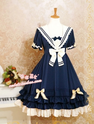 Strawberry Witch Chiffon Sailor Lolita OP Dress