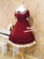 Strawberry Witch Chiffon Sailor Lolita OP Dress