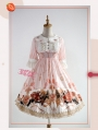 Strawberry Witch The Adventures of Clock Chiffon Sweet Lolita OP Dress