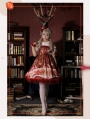 Strawberry Witch The Adventures of the Clock Chiffon Lolita Jumper Dress