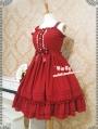 Strawberry Witch Chiffon Sweet Lolita Jumper Dress