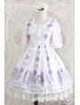 Strawberry Witch Short Sleeves Chiffon Sweet Lolita OP Dress