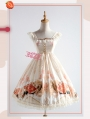 Strawberry Witch The Adventures of the Clock Chiffon Sweet Lolita Jumper Dress