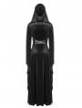 Black Gothic Witchy Velvet Long Hooded Coat for Women