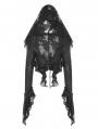 Black Gothic Decadent Short Coat for Women