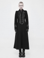 Black Gothic Uniform Retro Woolen Jacket for Women