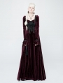 Red Velvet Gothic Victoria Long Sleeve Dress
