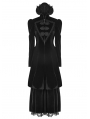Black Gothic Gorgeous Court Retro Coat for Women