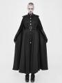 Black Gothic Two Wear Long Military Uniform Cloak for Women