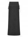 Black Gothic Retro Jacquard Skirt for Men