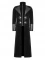 Black Detachable Gentleman Style Gothic Jacket for Men
